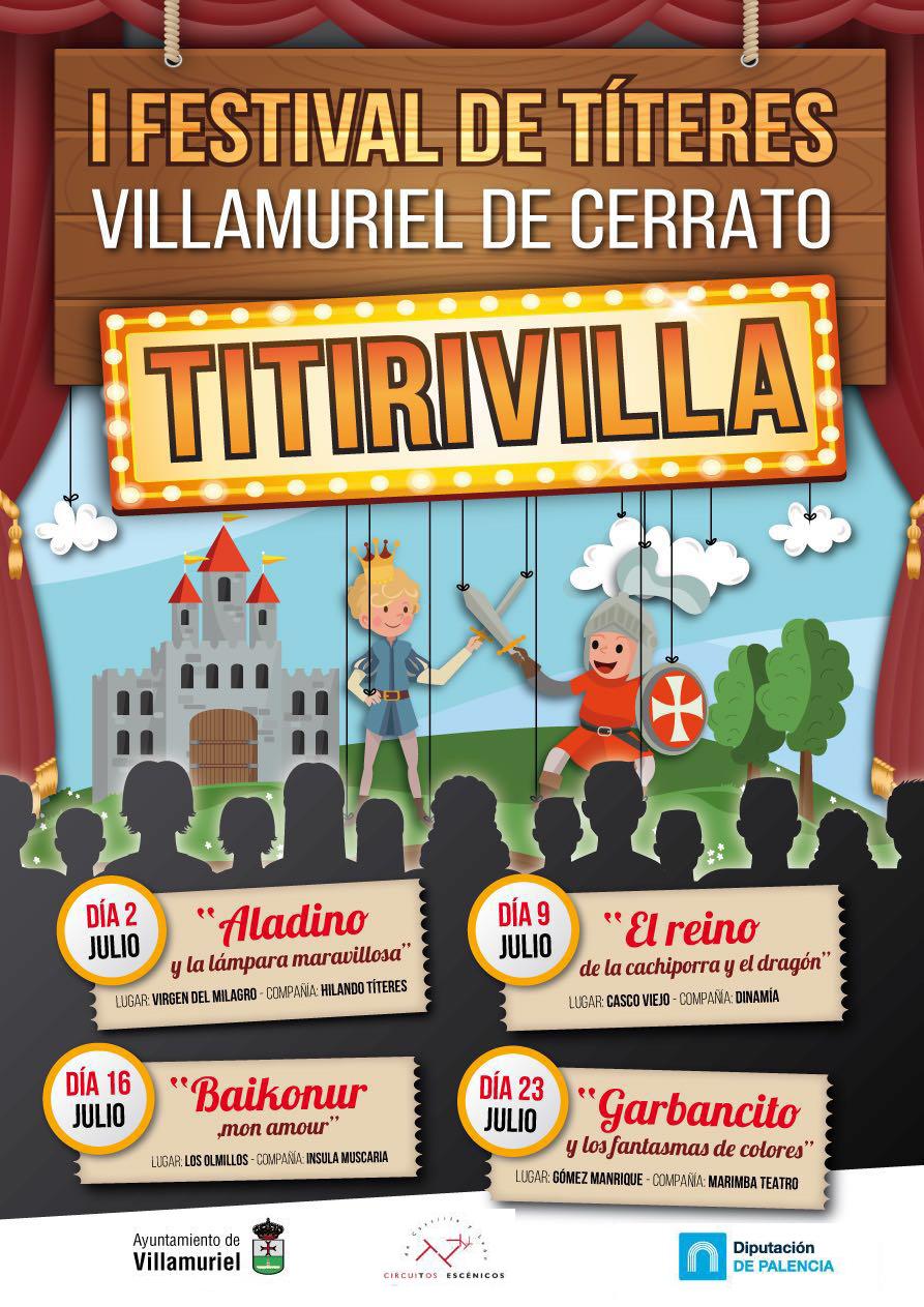 Cartel Villamuriel de Cerrato Titirivilla Hilando