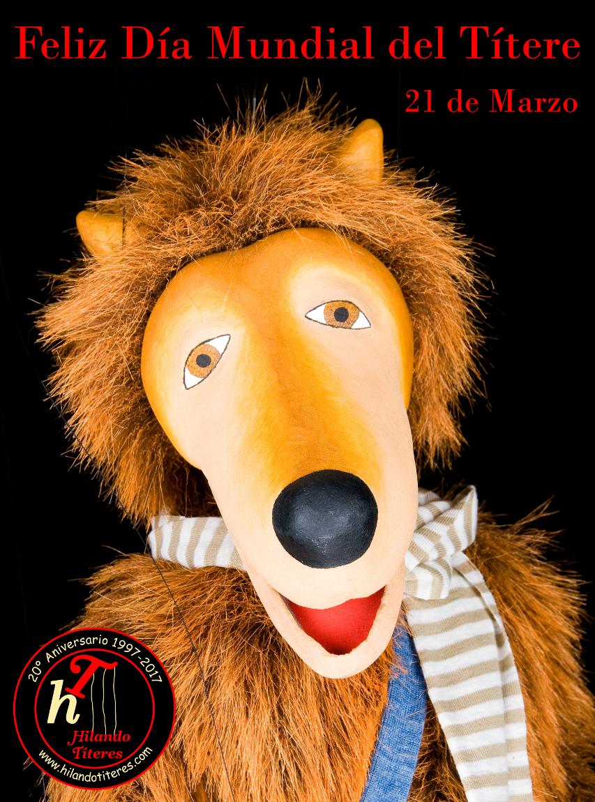Cartel Feliz Día Mundial del Títere y la Marioneta