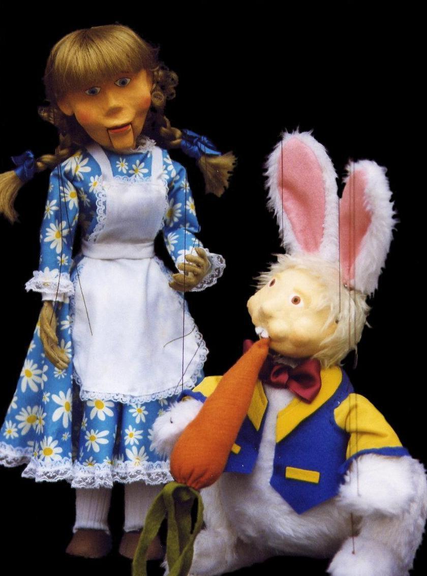Marionetas del espectáculo
