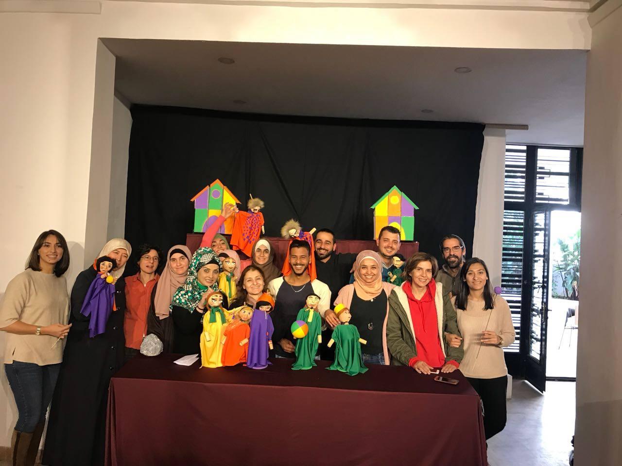 Taller de marionetas en Amán Jordania