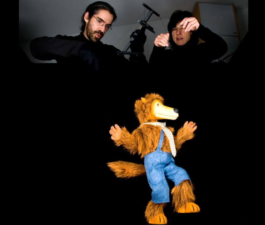 Componentes de la compañía de teatro de marionetas