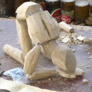 Marioneta en proceso de construcción