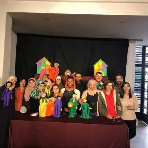 Participantes del taller de títeres Foto de grupo