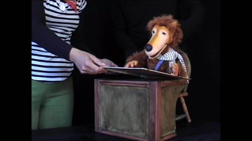 El lobo de Cuentalibros títeres para niños y niñas