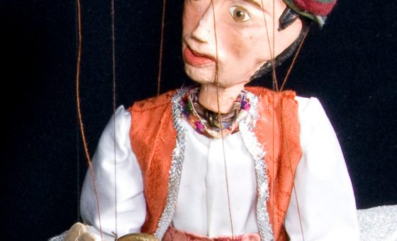 Títere de Aladino del espectáculo de marionetas Aladino y la lámpara maravillosa