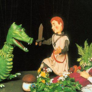 Dragón Principe y Princesa de los espectáculos de títeres profesionales de Hilando Títeres