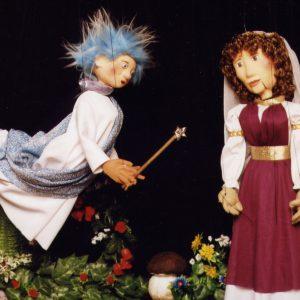 Marionetas del espectáculo La Bella Durmiente