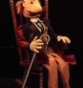 Marioneta del Alcalde. Espectáculo con luz negra.